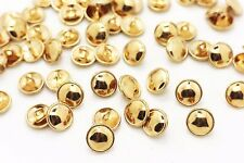 Golden Metal Shank Button Mushroom Shape Blouse Shirt Elegant Small 12mm 20pcs