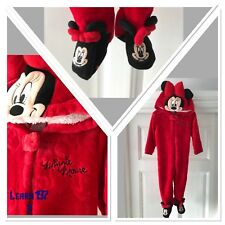 BNWT Disney official Minnie Mouse Girls pj all in one hooded Primark 12-24 Month
