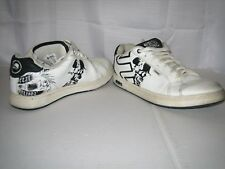 ETNIES Men's FADER METAL MULISHA White Black Sneakers/Shoes SIZE 8.5 2008-2009