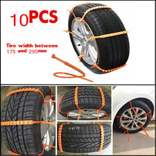 10X Car Truck Snow Wheel Tire Kit Anti-skid Antiskid Chains Thickened Tendon TPU