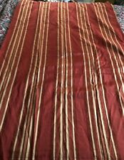 WAVERLY BURGUNDY & GOLD STRIPES SHOWER CURTAIN