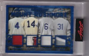 2021 LEAF ULTIMATE SPORTS MOUNT RUSHMORE NY METS SNIDER HODGES GARVEY PIAZZA 2/3
