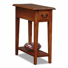 Leick Chair Side End Table with Drawer in Medium Oak Finish, 9017-MED New