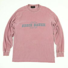 Faded Distressed Eddie Bauer T-Shirt Mens XS/S Red Outdoors Long Sleeve