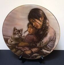 "Bradex Native American Collector Plate, ""Girl With Little Sister"""
