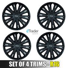 "Vivaro Traffic Primastar 16"" Black Wheel Trims Hub Caps New Trim Cover Cap X 4"