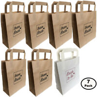7 PACK HEN PARTY BAGS PAPER TEAM BRIDE & BRIDE TO BE GOODY FAVOUR BAG NIGHT DO