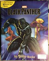 MARVELS BLACK PANTHER BUSY BOOK - 10 FIGURES AND A PLAYMAT BRAND NEW UK