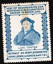 VINTAGE CINDERELLA L.Jzn. Coster Netherlands Old Hinge Tape Remnant G