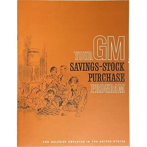 Saving Stock Purchase Program General Motors, HR document 1965