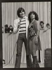 FOTO ORIGINALE MAL E MARINA MARFOGLIA ANNI '70 CARTA LUCIDA CM 18X24 TIMBRO