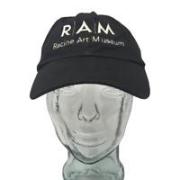 Racine Art Museum Baseball Cap RAM Cotton Embroidered Black OSFM Strap Back Hat
