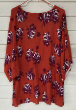 jaclyn smith 1x Plus Batwing Knit Tpp Floral Red Purple Plus Size