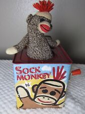 Schylling Tin Sock Monkey & You Jack-in-the-Box Pop Goes the Weasel 2008 EUC