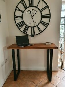 Rustic/industrial solid wood Breakfast Bar- Kitchen console - table- desk -