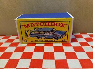 Matchbox Lesney 42 Studebaker Wagon EMPTY REPRO  Box Only  NO CAR