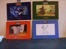 "Disney ""Collectible Litho Set"" - (4) 5"" x 7"" NIP/Mailer Cinderella, Dumbo, ..."