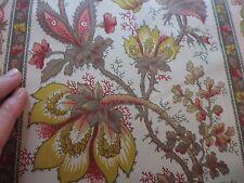 Tissu textile coupon ameublement Imprimé fleurs rayé style indienne au metre