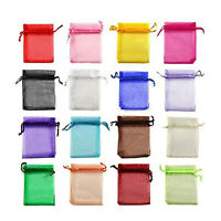 100pcs Organza Jewelry Wedding Party Favors Bag Decor Candy Gift Pouches 4 Color