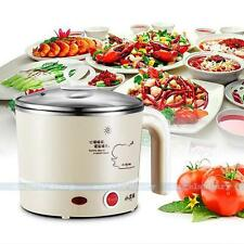 UK PLUG Electric Hot Pot Soup Maker Coffee Heater Food Warmer Appliances Khaki