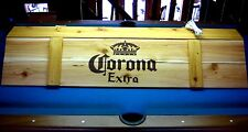 Corona Extra Billiards Pool Table Light Lamp & Wall Mount Pool Cue Rack Combo!