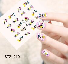Nail Art Water Decals Stickers Transfers Mickey Mouse Minnie Mouse (STZ210)
