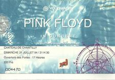 RARE / TICKET BILLET DE CONCERT - PINK FLOYD : LIVE A PARIS ( FRANCE ) 1994