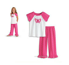 American Girl CL BITTY TWIN BUTTERFLY PJ'S SIZE M for Girls Pink Pajamas NEW