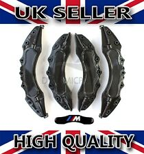 UNIVERSAL BRAKE CALIPER COVERS SET KIT FRONT & REAR BLACK ABS 4PCS - ///M