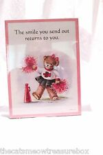 "Graphic Greetings Wall Plaque or Decor Bear ""Smile"" theme New Stapco Usa"