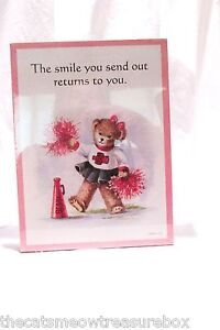 Graphic Greetings Wall Plaque or Decor  Bear Smile theme New Stapco USA