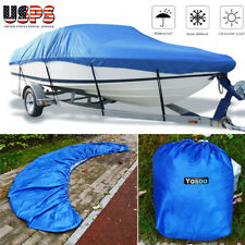 Boat Cover Waterproof 14-16 Ft Heavy Duty Trailerable Fishing Ski Boat Cover US