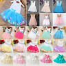 Girls Princess Dress Kids Baby Party Pageant Bridesmaid Lace Tulle Tutu Dress