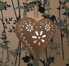 Heart Metal Hanging Candle & Tea Light Holders