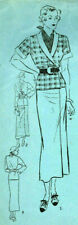 """1930s Vintage Sewing Pattern B34"""" TWO-PIECE FROCK (Skirt and Blouse) (1911R)"""