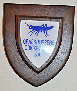 Grasshoppers Cricket Club South Africa plaque shield crest