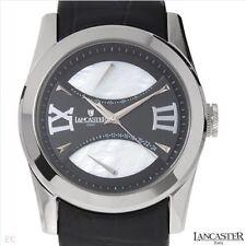$660 Lancaster Italy ola0613 Mens Date Black EMISFERI RACE CAR Watch mint in box