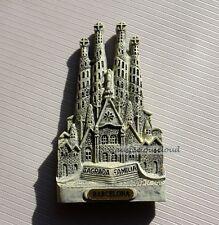 Tourist Souvenir 3D Resin Fridge Magnet --- Barcelona Sagrada Familia , Spain