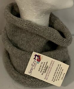 Unisex adult hand-knitted 100% AUSTRALIAN-ALPACA COWL sew-ezy-australia
