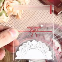 100x Party Bags Cello Clear Cellophane Loot Gift Candy Cookies Sweet Treat Bag w