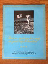 1969 APOLLO SPACE FLIGHTS 8, 9, 10, 11 Moon Landing Commemorative Album Stamps