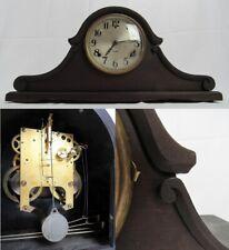New ListingGilbert Mantel Clock antique wood chime key pendulum Unique Scrolling works!