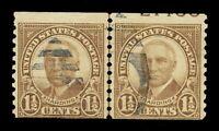 U.S. 686 USED 1 1/2 CENT 1930 WARREN G HARDING PLATE # JLP