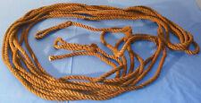 Cordage ancien neuf chanvre fibres naturelles section 15 mm longueur 18 mètres