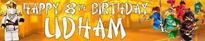 Ninjago Personalised Birthday Banners with photo option