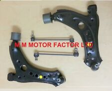 VW Polo 9N |03-| Front Lower Wishbone Arms Complete With Bushes & Links Pair