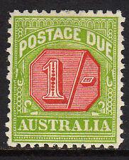 Australia 1931-36 1 / - Carmine & amarillo-verde Sg D111 Perfecto.