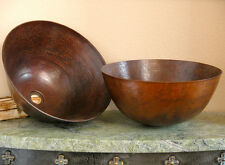 Bath Sinks-Round Mexican Copper Vessel  Vanity  Sink