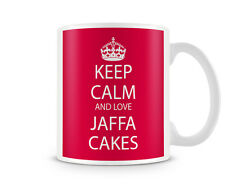 Keep Calm And Love Jaffa Cakes Red Background Printed Ceramic Mug Ideal Gift