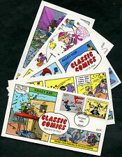 """#3000a-t (17) DIFF """"CLASSIC COMICS"""" HAND PAINTED FDC CACHET BY COLLINS BP7743"""